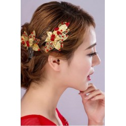 Chinese Style Bridal Flower Hair Comb