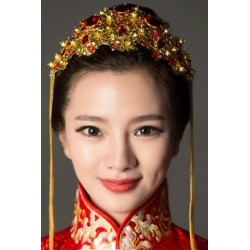 Chinese Style Retro dragon & phoenix hair tiara accessory