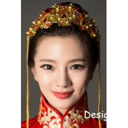 Chinese Style Bridal Retro Coronet Dragon Xiu Head Pieces
