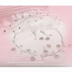Korean Bridal 3-pieces white flower style (hair accessories + earring + necklace)
