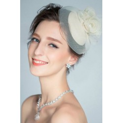 Korean Bridal white flower hat hair pieces