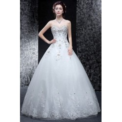 2016 new summer korean style tube lace wedding dress