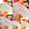 "Personalized ""Love is Sweet"" Wedding Favor or Gift Tags"