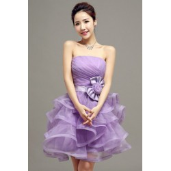 2016 New Spring & Summer Mini Tube Tier Bridesmaid Dress