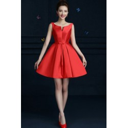 2016 New Red Shine Knee-length Bridesmaid Dress