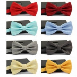 Groom's British Style Solid Color Bow Tie