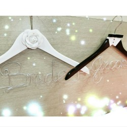 Groom In Suit & Bride in Dress Wedding Hanger