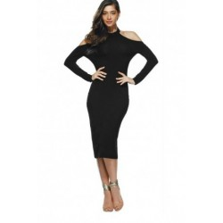 Backless Hollow Out Skinny Dress
