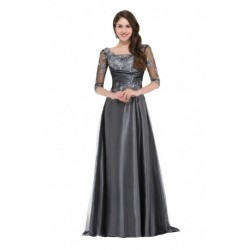 Elegant 1/2 Sleeved Mother of the Bride Evening Dress