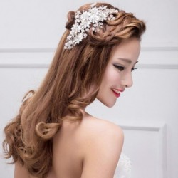 Korean Style Bridal Crystal Hair Comb Accessory