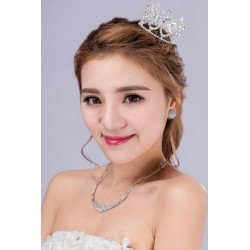 Korean Bridal Small Diamante Hair Crown