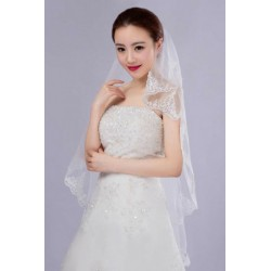 Korean Style Short Length Bridal Veil