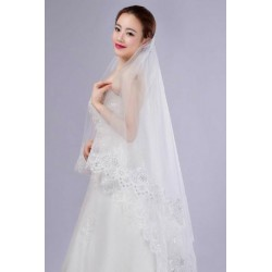 Korean Style Lace Embroidery Bridal Veil