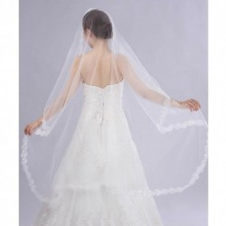 Korean Style Soft Chiffon Lace Bridal Veil