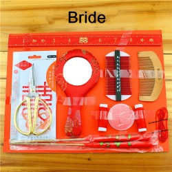 Chinese Wedding Traditional Mirror & Comb Set