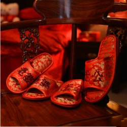 Chinese Traditional Wedding Husband & Wife Open-toe Slipper