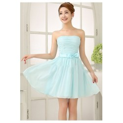 Chiffon Knee Length Dinner Dress B