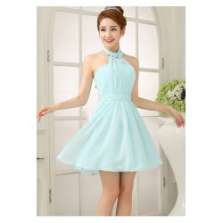 Chiffon Knee Length Dinner Dress C