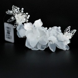 White Floral Style Bridal Hair Accessory