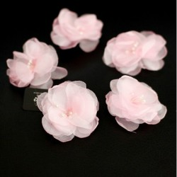 Bridal Pink Flower Hair Accessory