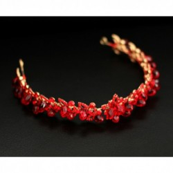 Bridal Red Crystal Hair Accessory