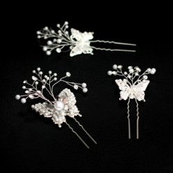 Small Butterfly Bridal Hair Accessory