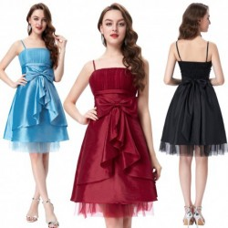 Classic Knee Length Bow Ribbon Cocktail Dress (3 Colors)