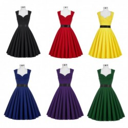 Vintage Retro Sweetheart Neckline Knee Length Cocktail Dress (6 Colors)