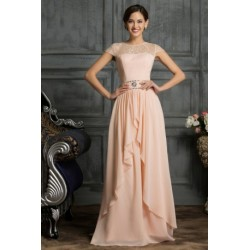 Chiffon Floor Length Formal Sequined Evening Dress (2 Colors)