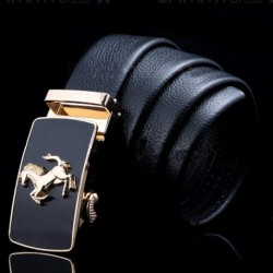 Fashionable Running Horse Shape Alloy Embellished Buckle Belt