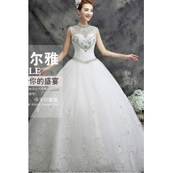 2016 Korean Style New Spring & Summer Halter Neck Wedding Dress