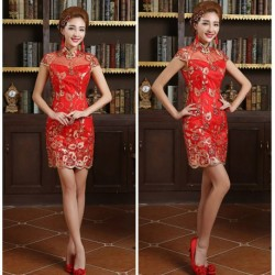2016 New Spring & Summer Chinese Traditional Wedding Dress