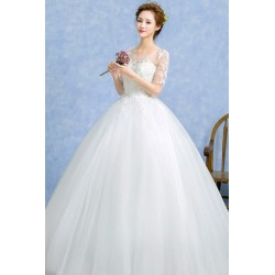 2016 Korean Princess Style Tutu Wedding Dress