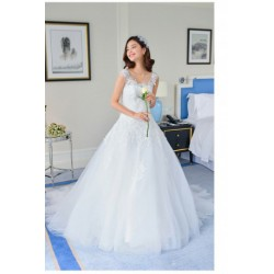 2016 Korean Style New Spring & Summer Tank Wedding Dress