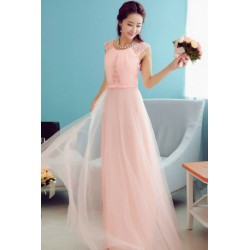 Korean Style Lace Bridesmaid Evening Dress