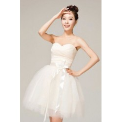 Sweet Champaign Color Adjustable Back Straps Bridemaid Dress
