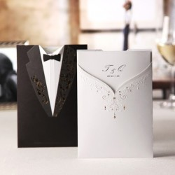 Bride & Groom Wedding Invtaition Card