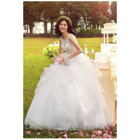 2016 new spring & summer korean style tank sleeveless wedding dress