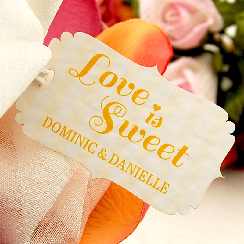 Love Is Sweet Wedding Gift Tags : ...
