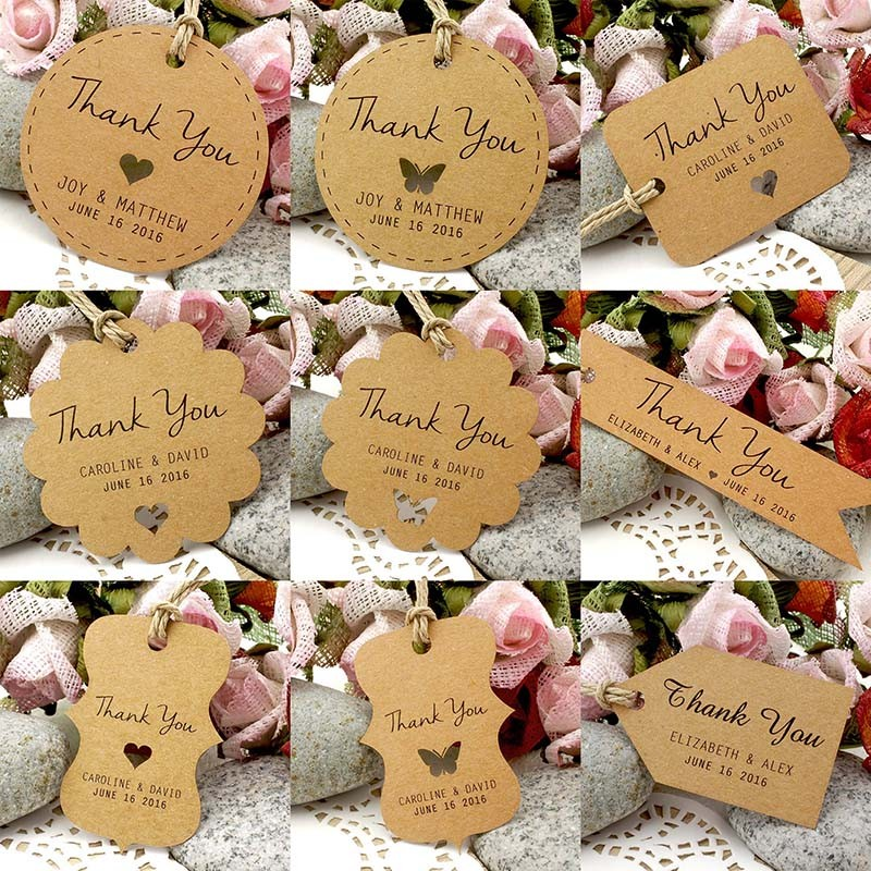... Brown Kraft Wedding Favor / Thank You / Gift Tags Wedding Favors