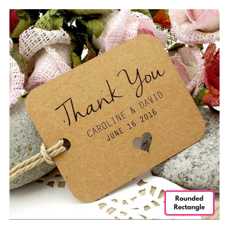 Thank You Wedding Gift Tags : ... Brown Kraft Wedding Favor / Thank You / Gift Tags Wedding Favors