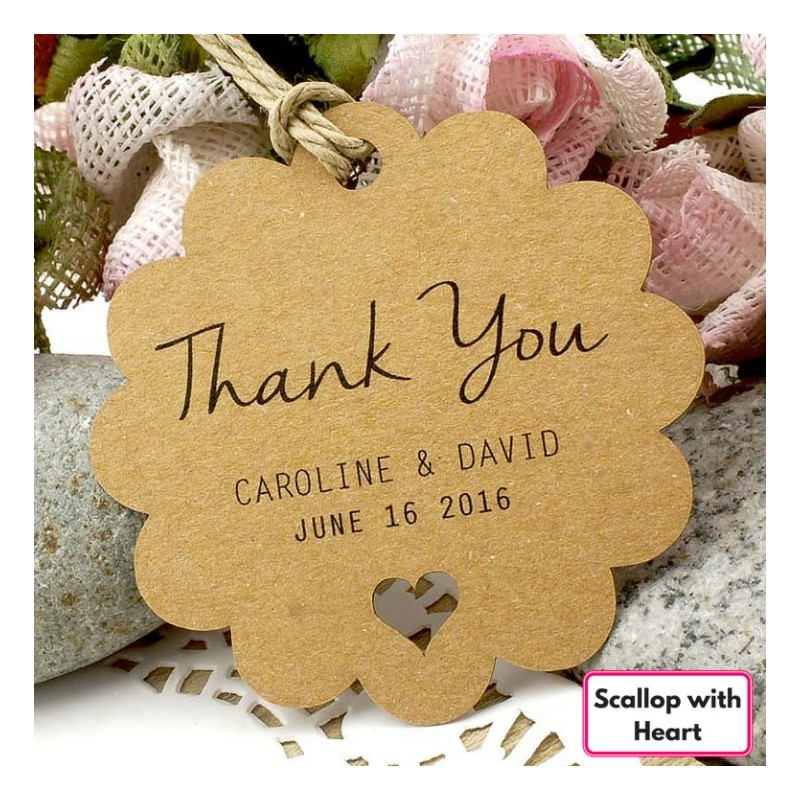 ... > Personalized Brown Kraft Wedding Favor / Thank You / Gift Tags