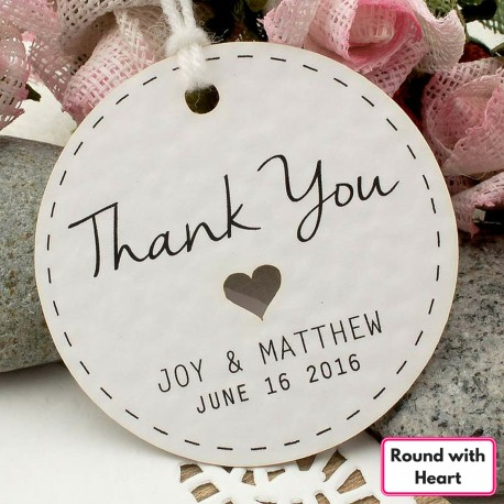Personalized White Wedding Favor / Thank You / Gift Tags (Set A ...