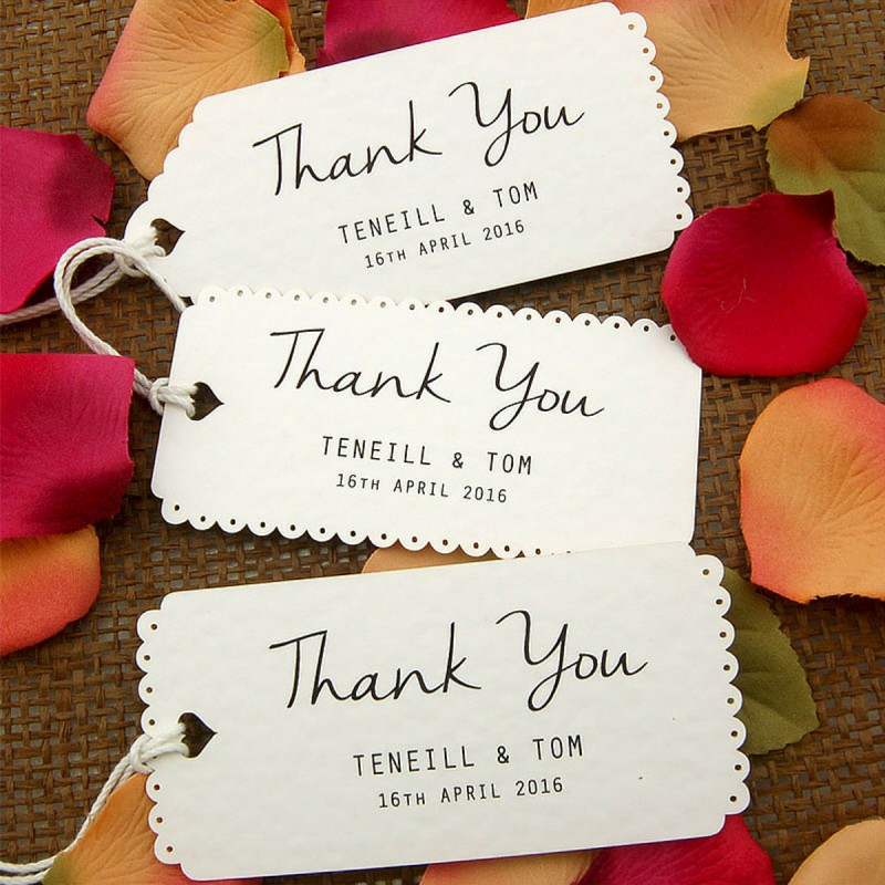 Images Of Wedding Thank You Gifts : Personalize White Vintage Lace Wedding Favor / Thank You / Gift Tags ...
