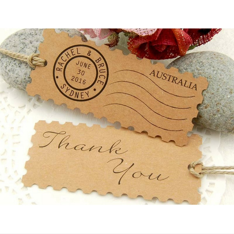 ... Kraft Postage Stamp Wedding Favor Gift Tags (Malaysia) Gifts & Cards