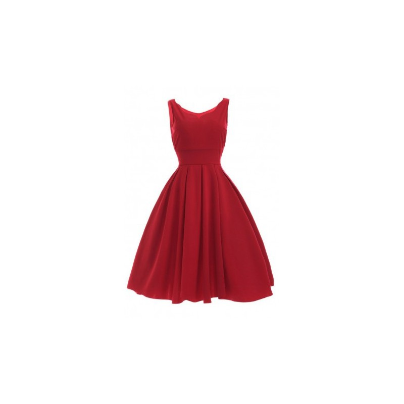 Home gt fashion gt women s sweetheart neck pleated red dress
