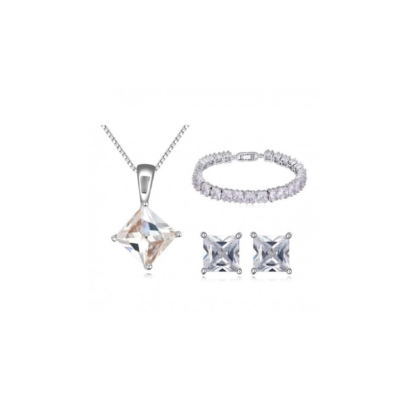 Cubic Zirconia Jewelry Sets : Solitaire cubic zirconia jewelry set fashion