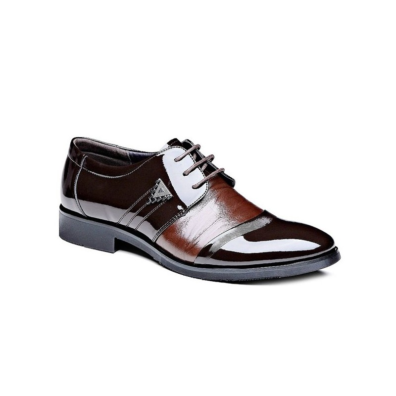 fashion s formal shoes with patent leather and lace up