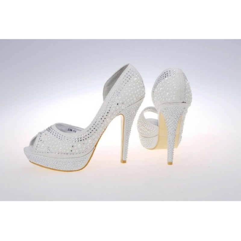 Bridal pearl peep toe heels fashion - My peep toes ...