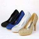 Luxury Metalic Diamante Pumps